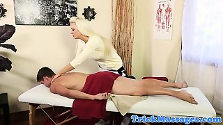 Bigtitted Masseuse Cocksucking Client
