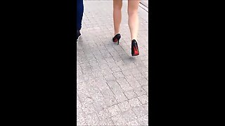 #87 Woman With Sexy Legs In Mini Skirt And High Heels