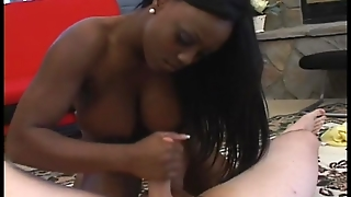 Busty Black Jada Fire Giving Hot Handjob