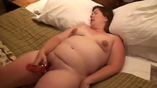 Hairy Bbw Amateur With Toy And Cock