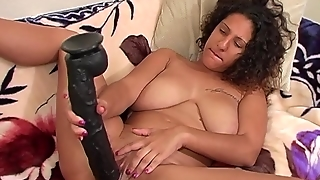 Huge Dildo For Huge Twat For Girl With Huge Tits