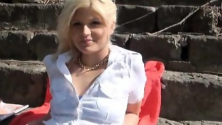 Amateur, Blonde, Outdoor, Blowjob, Pov, Hardcore, Reality