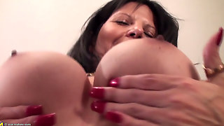 Rookie, Newbie, Cougar, Shaved, While, Asian, High, Mother, Home, Hd, Dildo