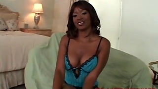 Busty Black Mom In Sexy Lingerie Sucks A Dick
