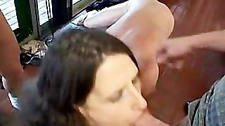 Dp Gangbanged By Husband And Friends