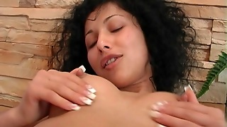 Straight, Solo Girl, Natural Tits, Masturbation, Brunette, Curly, Hd, Babes, Perfect Body, Shaved Pussy, Kitchen