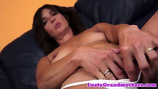 Granny Pussy Pounded On The Couch