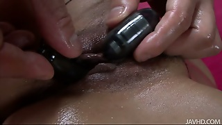 Closeup Video Of Busty Japanese Getting Oily Massage