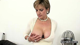 Adulterous English Mature Lady Sonia Reveals Her Massive Bre