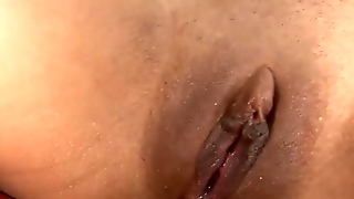 Aliana Love's Shaved Ebony Pussy Creampied By Black Daddy