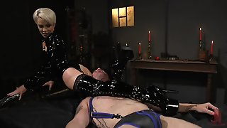 Mistress Pegging Slave