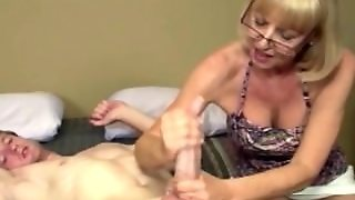 Amateur Granny With Glasses Cum Covered