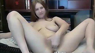Busty Teen With Hairy Pussy Fingering
