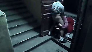 Staircase Security Cam Catpures Sex