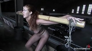 Lusty Redhead In Corset Is Forced To Do A Lot Of Painful Things