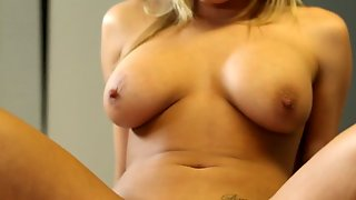 Blonde Hottie With Giant Hooters Loves Giving Suck Job