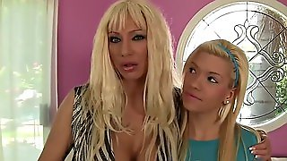 Mom And Daughter Have A Threesome