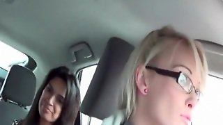 Beauty Flashes Tits And Asshole In The Car