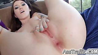 Saucy Hussy Is Too Horny To Stop Taking Love Torpedo In The Anal Hole