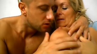 Blonde Old-Ass Slut Fucked By Some Dude