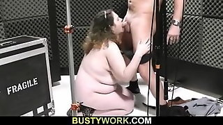 Curly-Haired Bbw Pleases Her Boss