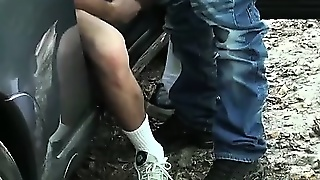 French Dude Sucks Dick Outdoors