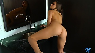 Teal Conrad Undressing And Fucking With Vibrator