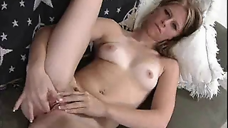 Cute Blonde Amber Star Fingering Her Pussy