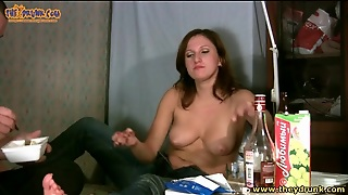 Couple Does Shots And Gets Naked For Fun