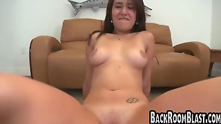 Shaved Pussy Fucked In The Office By A Big Cock