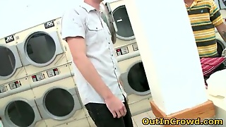 Horny Gays Having Sex In Public Laundry 1