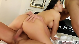 A Warm Creampie For Aletta Ocean After A Threesome