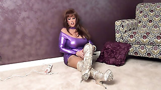 Glamour, Boots, Stocking, Milf, Euro Glamour, Softcore, Dark Hair, Show, Solo Girl, Shoes, Stockings