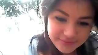 Creampie And Facial In The Woods On Webcam