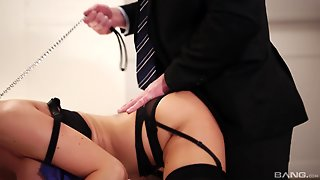 Hottie In Stockings Jasmine Jae Getting Drilled Doggy Style