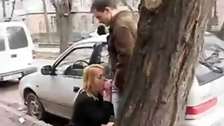 Outdoor Blowjob And Facial In Public