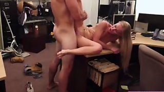 Skinny Hot Babe Sucks Huge Cock While Gets Pussy Finger