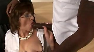 Lady Sonia Interracial Black Blowjob