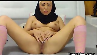 Beautiful Arab Girl Strips And Masturbates