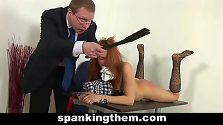 Bad College Girl Spanked