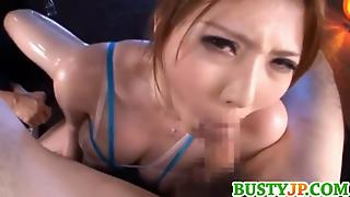 Momoka Busty Oiled Sucks Tools