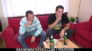 Mature Lady Is Lured Into Drunk Threesome