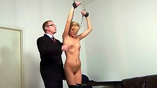Blonde Secretary Spanked By Boss