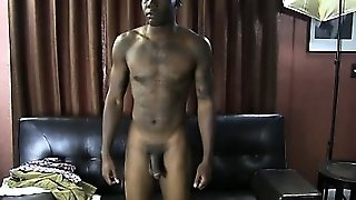 Amateur Straight Black Guy Gets Naked