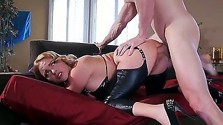 Every Dude Would Like To Fuck Busty Krissy Lynn Since She Is One Of The Most Popular Girls On The Internet. This Time She Is Taking A Long White Dick Very Deep!