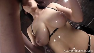Sexy Oil Massage For Huge Natural Japanese Breasts