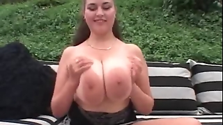 Busty Denise Davies Threesome Anal