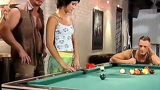 Hot Orgy On The Pool-Table!