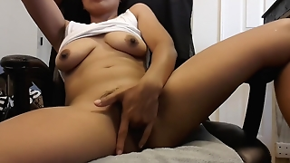 Exotic Brunette Plays With Pussy