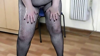 British Mature In Fishnets